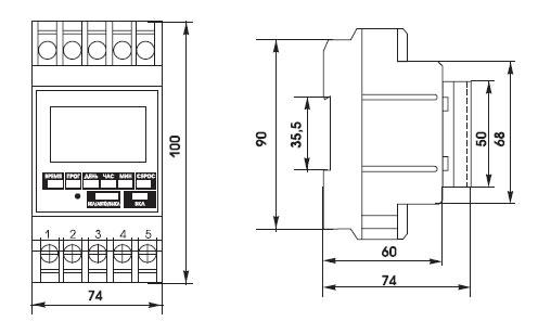 Остаток в. однофазная нагрузка более или равная 16 А - подключение через контактор (электромагнитный пускатель) .